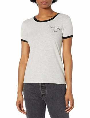 Derek Heart Women's Regina's Ringer Tee with Chest