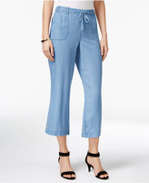 Style&Co. Style & Co Chambray Cropped Wide-Leg Pants, Only at Macy's