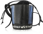 Vivienne Westwood Buckingham Blue Mini Leather Signature Bucket Bag