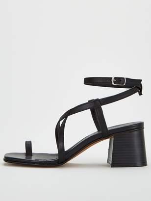Office Mineral Heeled Sandal - Black