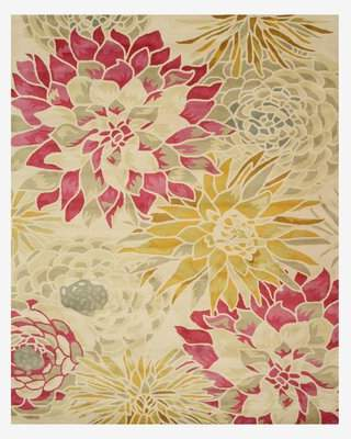 The Conestoga Trading Co. Hand-Tufted Ivory Area Rug The Conestoga Trading Co. Rug Size: 5' x 8'