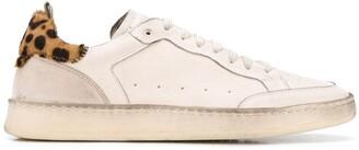 Officine Creative Leopard Print Heel Sneakers