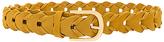 Linea Pelle Suede Link Belt in Mustard. - size L (also in M,S,XS)