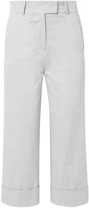 Silvia Tcherassi Beatrice Cropped Cotton-blend Wide-leg Pants