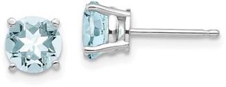 14K White Gold Aquamarine Earrings by Versil