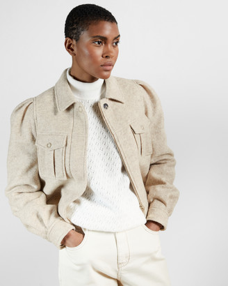 Ted Baker AEDA Patch pocket boiled wool jacket