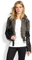 Burberry Blickling Leather Studded Jacket