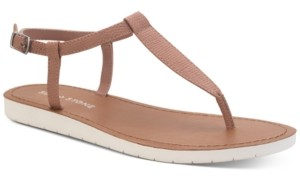 Sun + Stone Kristi T-Strap Flat Sandals, Created for Macy's Women's Shoes