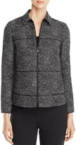 Lafayette 148 New York Textured Zip Ryker Jacket