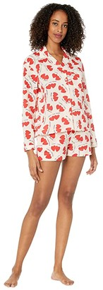Only Hearts Sleep to Dream Lovers Shorty Cotton PJ Set in Sack (Lovers Print) Women's Pajama Sets