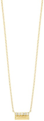 Bony Levy 18K Yellow Gold Cleo Petite Bar Diamond Pyramid Studs - 0.06 ctw