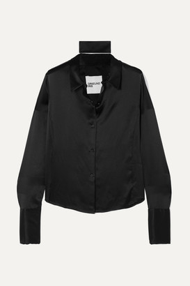 Orseund Iris Silk-satin Shirt - Black