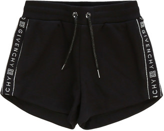 Givenchy Girl's Logo-Tape Drawstring Shorts, Size 4