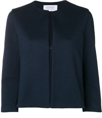 Harris Wharf London Collarless Cropped Jacket