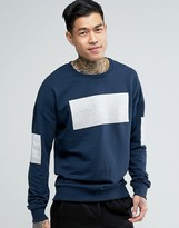 Jack and Jones Sweat with chest and Sleeve Placement