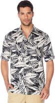 Cubavera Big & Tall 100% Linen Two tone All over Leaf Printed Shirt