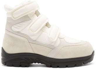 MM6 MAISON MARGIELA White Velcro High Top Sneakers