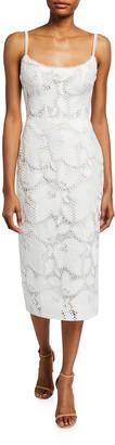 Monique Lhuillier Lace Midi Dress