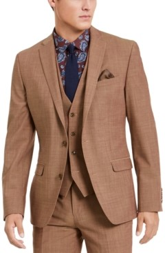 Bar III Men's Slim-Fit Active Stretch Performance Gold Suit Separate Jacket, Created for Macy's