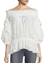 Faith Connexion Ruffled Off-The-Shoulder Top