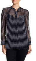 Joe Fresh Sheer Striped Blouse