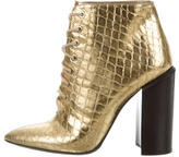 Walter Steiger Metallic Lace-Up Ankle Boots
