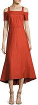 A.L.C. Daniel Cold-Shoulder Midi Dress, Brick