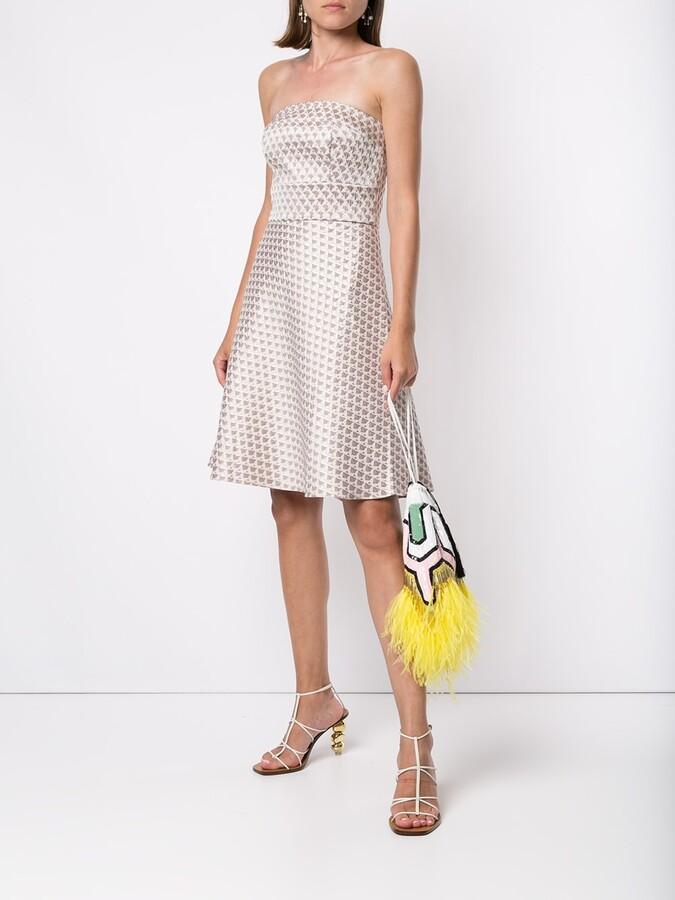 Thumbnail for your product : Bambah Short Geometric Pattern Dress