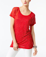 INC International Concepts Studded Illusion T-Shirt, Created for Macy's