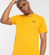 Vans left chest logo t-shirt in yellow Exclusive at ASOS