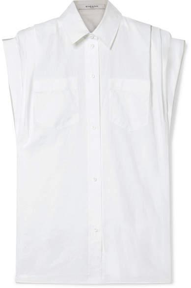 Givenchy Oversized Cotton-poplin Shirt - White