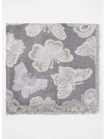 Dorothy Perkins Womens Butterfly Jacquard Scarf- Blue