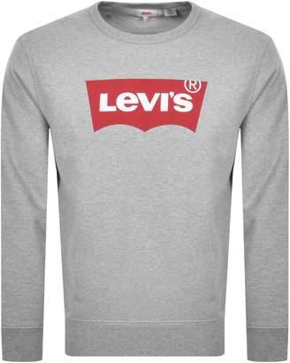 Levi's Levis Crew Neck Logo Sweatshirt Grey