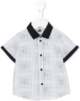 Armani Junior mini logo print shirt - kids - Cotton/Spandex/Elastane - 6 mth