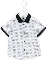 Armani Junior mini logo print shirt - kids - Cotton/Spandex/Elastane - 9 mth