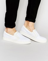 Religion Slip On Mesh Trainers In White