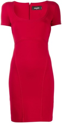 DSQUARED2 decorative trim dress