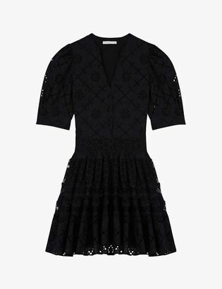 Maje Rayanette guipure-lace skater dress