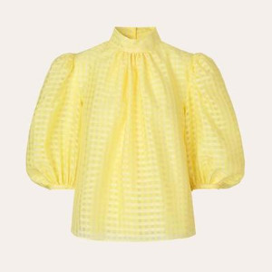 Stine Goya Birgitte Top Gingham Marigold - S - UK10 / Marigold