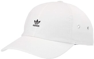 adidas Originals Relaxed Mini Logo (White/Black) Caps