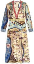 Gucci Carte de Tendre print dress