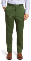 JB Britches Men's Flat Front Solid Stretch Cotton Trousers