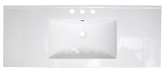 "American Imaginations Ceramic 40"" Single Bathroom Vanity Top Faucet Mount: 8"" Centers"
