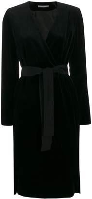 Alberta Ferretti velvet wrap-effect dress