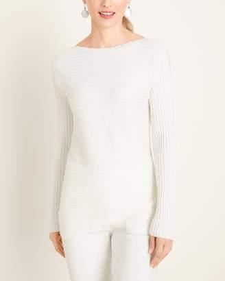 Zenergy Cotton-Cashmere Blend Bateau-Neck Ribbed Sweater