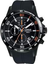 Lorus Men's Sports 44mm Silicone Band Ip Steel Case Quartz Watch Rm301dx9