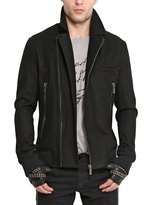Karl Lagerfeld Wool Cloth Biker Jacket