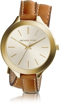 Michael Kors Slim Runway Double-Wrap Women's Watch