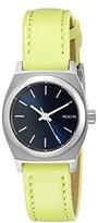 Nixon Women's A5092080 Small Time-Teller Leather Analog Display Quartz Watch