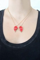 "Wildfox Couture Jewelry ""Wild"" & ""Fox"" Heart Necklace Set in Red"
